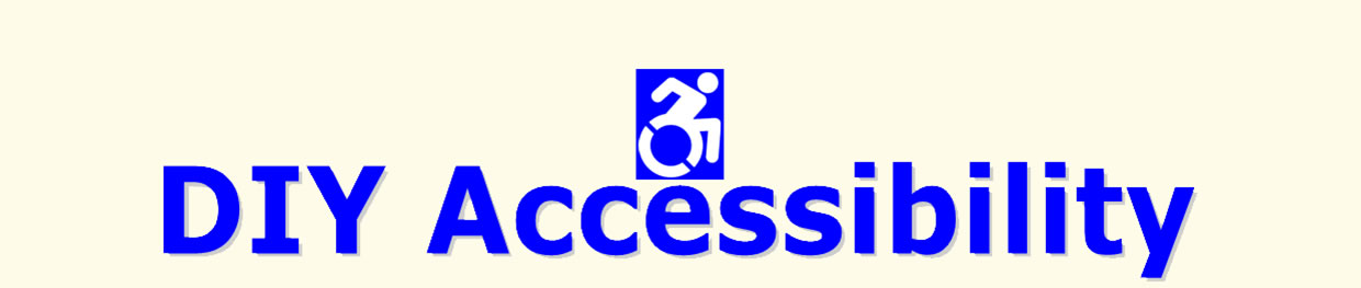 Text DIY Accessibility and wheelchair logo