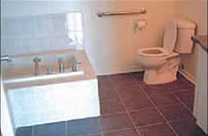 small accessible bathroom