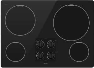 Cooktop with front burner controls