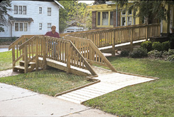 Simple & adequate wheelchair ramp railing
