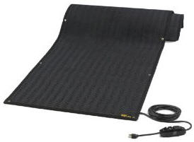 Wheelchair ramp heating mat
