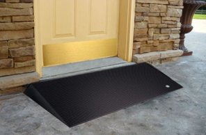 wheelchair threshold ramp at front door